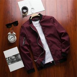 Spring New Men's Bomber Zipper Jacket