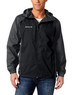 Columbia Men's Straight Line Rain Jacket, Black/Grill, X-Lar