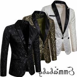 Stylish Men's Casual Slim Fit Formal One Button Suit Blazer