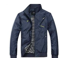 The One Men's Stylish Slim Fit Waterproof Polo Jacket Autumn