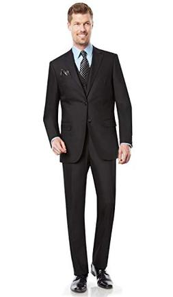 Mens Suit 2 button 3 piece Modern Fit Blazer/Jacket Flat-Fro