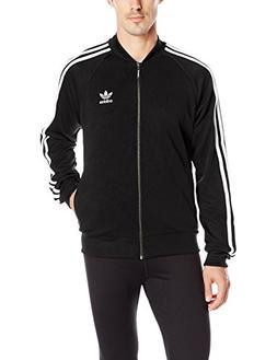 adidas Originals Men's Superstar Track Top, Large, Black