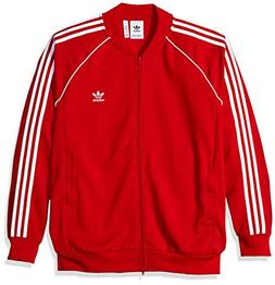 adidas Originals Men's Superstar Tracktop, Collegiate red, X