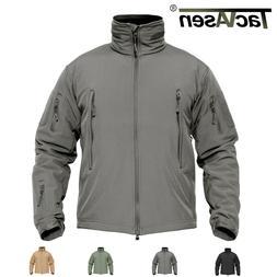 TACVASEN Tactical Windproof Mens Jackets Waterproof Soft She