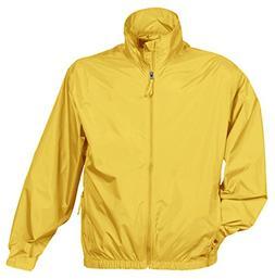 Tri-Mountain Men's Big And Tall Zipper Shell Jacket, Yellow