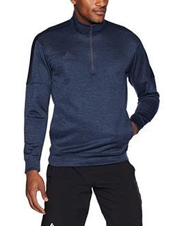 adidas Men's Team Issue Fleece Quarter Zip Jacket, Trace Blu