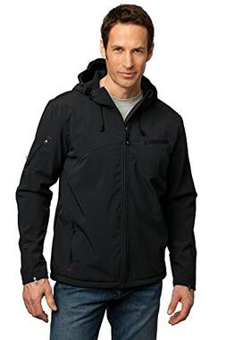 Port Authority Men's Textured Hooded Soft Shell Jacket L Bla
