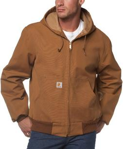 Carhartt Men's Thermal Lined Duck Active Jacket J131,Brown,S