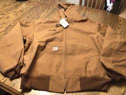 Carhartt Men's Thermal Lined Duck Active Jacket J131,Brown,S