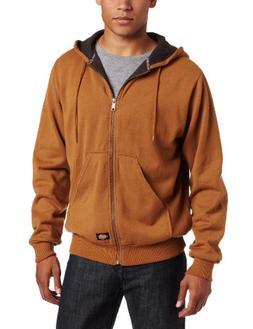 Dickies Men's Thermal Lined Fleece Jacket, Brown Duck, Small