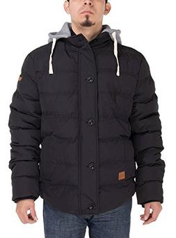 Luciano Natazzi Men's Thermal Padded Down Jacket Removable H