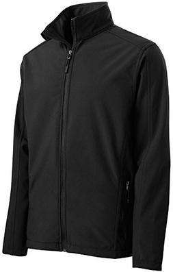Joe's USA(tm Mens Tall Core Soft Shell Jacket-Black-4XLT
