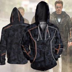 Tony Stark Hoodie Avengers Infinity War Iron Man Camouflage