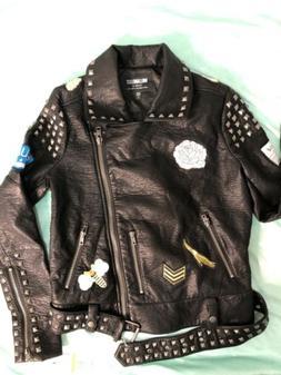 *Unique* William Rast Junior  Patch Jacket  Black Small