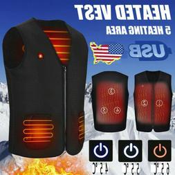 Unisex Electric Battery Heating USB Sleeveless Vest Winter H