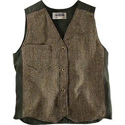 Stormy Kromer Men's Uptown Vest With Harris Tweed, Dark Mcle