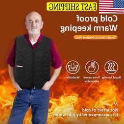 US Electric USB Heated Warm Vest Men Women Heating Coat Jack