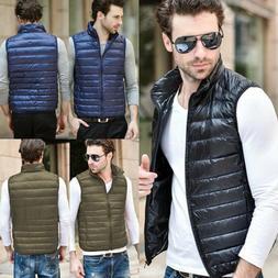 US Mens Down Jacket Vest Winter Outwear Coats Sleeveless Pac