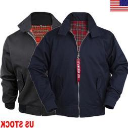 US Mens Women Harrington Classic Bomber Mod Jacket Vintage C