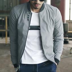 US New Men Fashion Casual Jacket Warm Winter Baseball Coat S