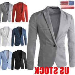 US New Men's Suit Coat Regular Serge Blazer Button Business