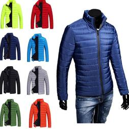 US STOCK Men Ultralight Jacket Warm Stand Collar Down Jacket