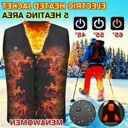 USB Thermal Electric Vest Heated Clothes Jacket Warm Pad Win