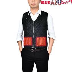 USStock Electric USB Heated Warm Vest Men Women Heating Coat