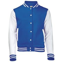AWDis Hoods Varsity Letterman jacket Royal Blue / White S
