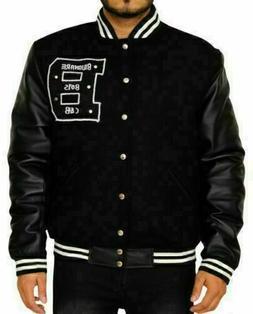Billionaire Boys Club Varsity Letterman Jacket With Pure Lea