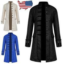 Vintage Mens Steampunk Tailcoat Jacket Gothic Victorian Froc