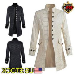Vintage Mens Steampunk Tailcoat Jacket Gothic Victorian Froc