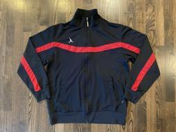 Vintage Nike AIR JORDAN Black & Red Full Zip Up Track Jacket