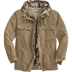 Legendary Whitetails Men's Voyager Hooded Shirt Jacket Oak L