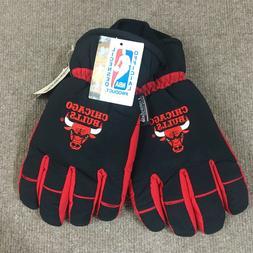 VTG G Cap Thinsulate Chicago Bulls Winter/Ski Gloves Men's M
