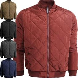 Mens Flight BOMBER JACKET QUILTED Classic Premium Casual Zip