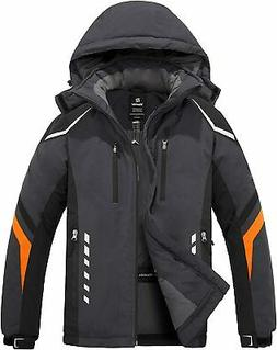 Wantdo Men's Mountain Waterproof Ski Jacket Warm Winter Snow