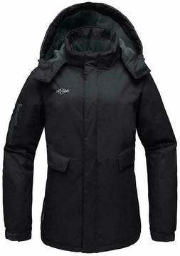 Wantdo Women's Mountain Ski Fleece Jacket Waterproof Parka W