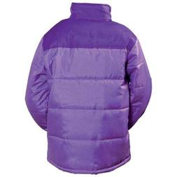 Water Resistant Purple Polyester Winter Coats
