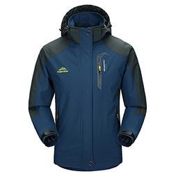 MICKYMIN Waterproof Jacket Mens Raincoats Outdoor Casual Hoo