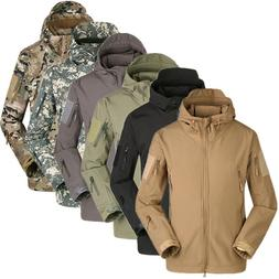 Waterproof Men's Jacket Soft Shell Outdoor Hiking Hunting Mi
