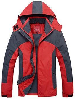 Ubon Men's Waterproof Mountain Jacket Fleece Windproof Ski J