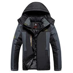 Magcomsen Men's Waterproof Mountain Ski Jacket Windproof Fle