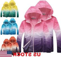 Waterproof Sunscreen Jacket Mens Womens Oversized Lightweigh
