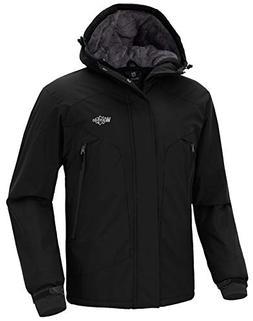 Wantdo Men's Waterproof Warm Snow Jacket Hooded Fleece Linin
