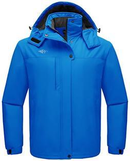 Wantdo Men's Waterproof Warm Snow Jacket Hooded Fleece Lined