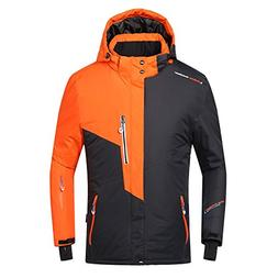 PHIBEE Mens Waterproof Windproof Outdoor Fleece Ski Jacket O