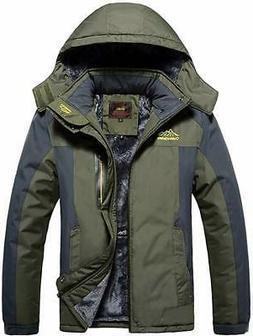Waterproof Windproof Mens Warm Coat Snow Winter Jacket Outwe