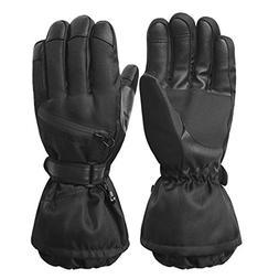 Men's Waterproof Windproof Ski Gloves,Winter Warm 3M Thinsul
