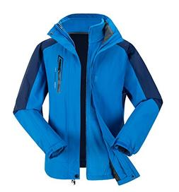 PHIBEE Men's Outdoor Waterproof Windproof Warm Ski Fleece Ho